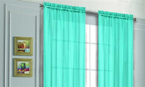 teal sheer curtain panels voile sheer curtain panels