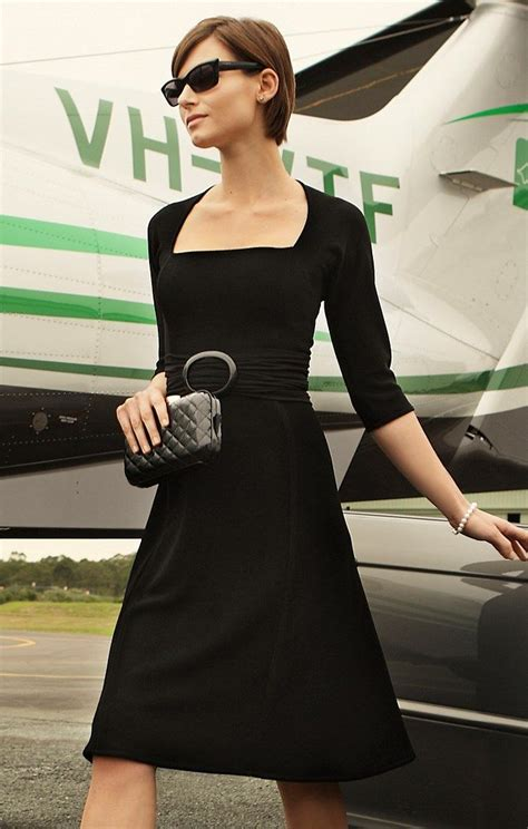 sacha drake olivia  sleeve dress  black work dress