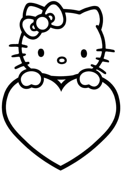 Hello Kitty Valentines Day Coloring Pages - Valentines