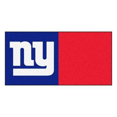 fanmats nfl new york giants blue and 18 in x