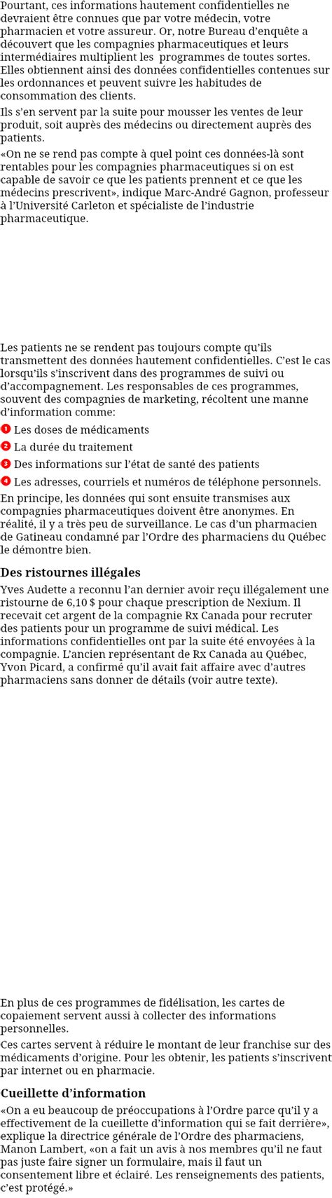 pharmaciens vendent vos prescriptions