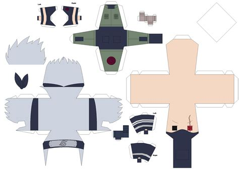 Deviantart Papercraft - sharingan kakashi papercraft template request by huski