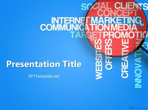 advertising powerpoint templates free marketing ppt template