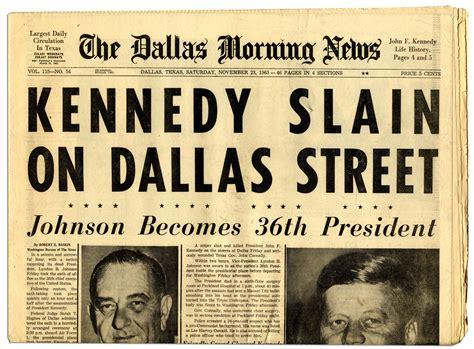obituary headlines the dallas morning news lot detail jfk assassination newspaper dallas