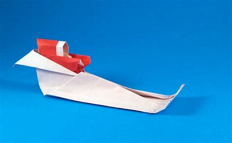 How To Make A Paper Santa Sleigh - santa claus and sleigh ted norminton gilad s origami page
