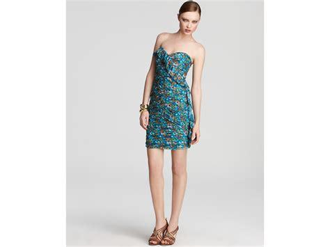 Cleeo Dress max cleo dress keegan strapless ruffle in blue blue