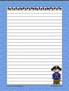 Pirate Themed Writing Paper Fun Themed Writing Papers With Graphics