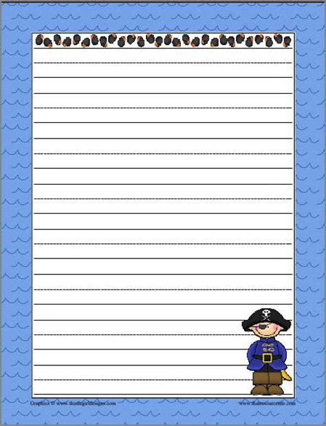 themed writing paper themed writing papers with graphics