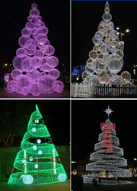 shopping center outdoor wire lighted christmas tree buy