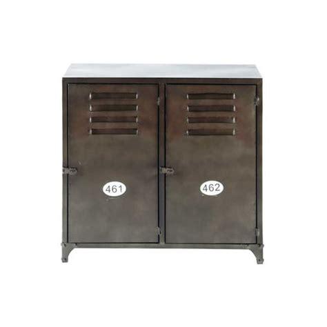 sideboard 70 cm höhe antiqued metal sideboard w 70cm wayne maisons du monde