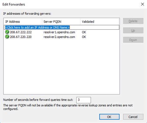 forwarding server ip address how to add dns forwarders in windows server dns