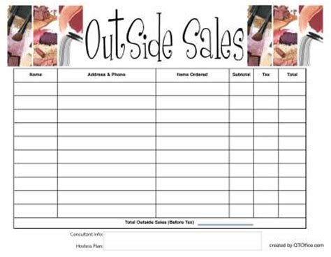 printable mary kay order forms free printable tracking outside orders with your hot