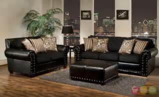 Lounge Chair With Ottoman Design Ideas Living Room Awesome Black Living Room Furniture Decorating Ideas With Black Leather Arms Sofa