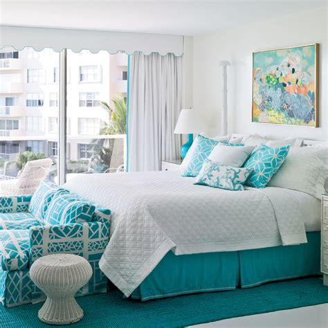 aqua bedroom bright and colorful rooms tropical style bright and