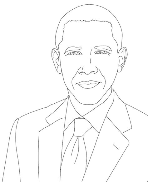 barack obama free coloring pages