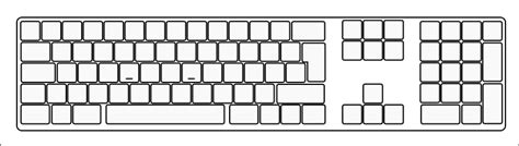 File Blank Extended Keyboard Svg Wikimedia Commons Computer Labels Template