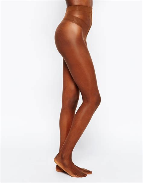 skin color tights lyst nubian skin 10 denier tights in brown