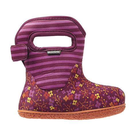 classic flower stripes baby bogs waterproof boots 71565i