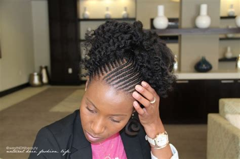 natural cornrow hairstyles caught between a cream and curl styling ideas for
