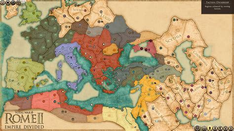 rome total war map total war rome 2 empire divided dlc and patch details