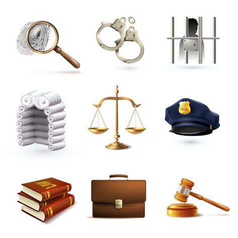 imagenes prediseñadas de justicia gratis iconos realistas de la justicia descargar vectores premium