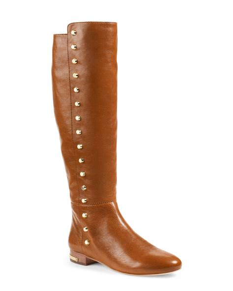 michael kors boots michael kors michael ailee flat studded knee boot in brown