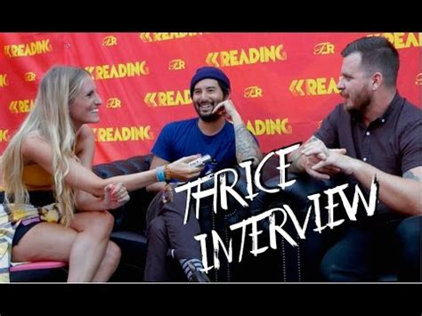 thrice interview interview with thrice at reading festival youtube