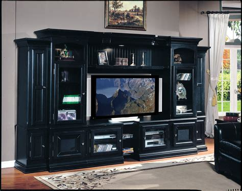 Flat Screen Tv Armoire Entertainment Center by Large Black Entertainment Center For Flat Screen Tv
