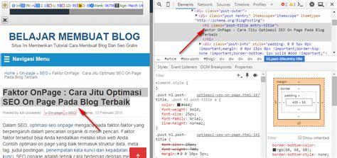 cara membuat blog berkualitas cara optimasi seo on page mudah dan berkualitas 2017