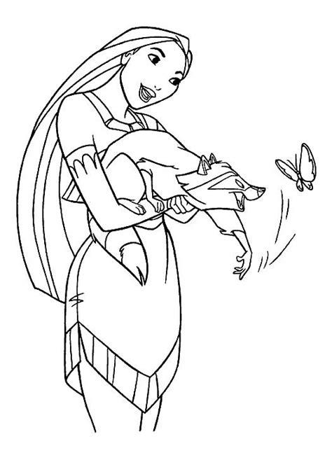 Disney Pocahontas Meeko Free Printable Coloring Pages Disney Princess Coloring Pages Pocahontas Printable