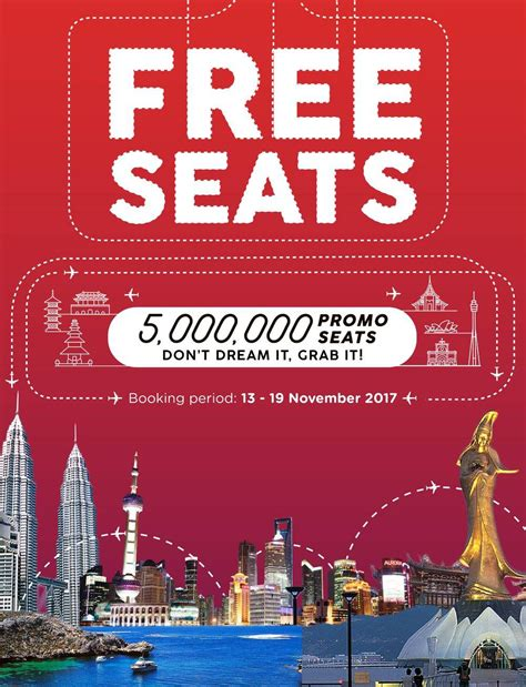 airasia zero fare airasia free seats booking 12 19 november 2017 travel