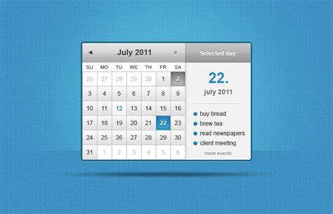 Calendar Widget Calendar Widget Vector File 365psd