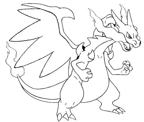 coloring page mega evolved pokemon mega x charizard 6 6