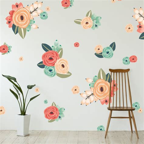 Flower Wall Decals For Nursery Best 25 Flower Wall Decals Ideas On Flower Wall Stickers Flower Decals For Walls