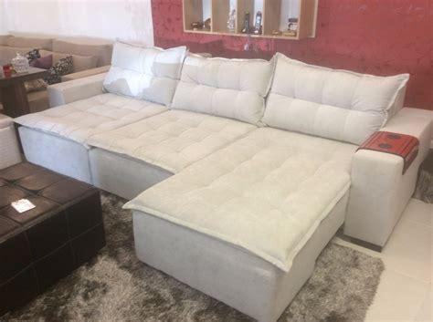 sofa com chaise retratil sofa 2 lug retratil e chaise retratil r 6 295 00 em