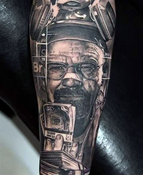 company logo tattoo for money 50 breaking bad tattoo designs for men walter white ink