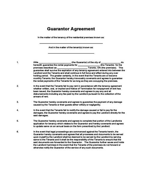 guarantor agreement