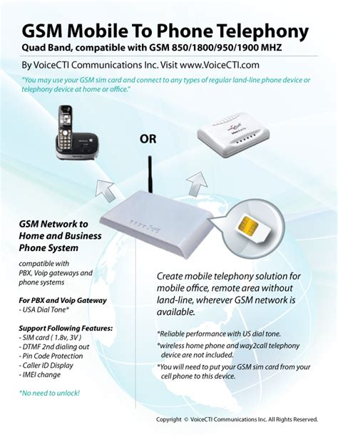 convert cell phone to desk phone voicecti telephony software and hardware