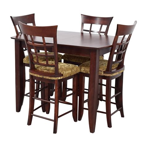 high top table set 48 high top dining table with four chairs tables