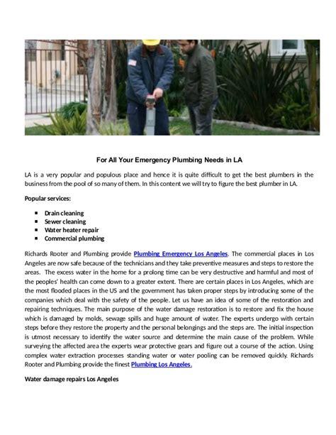 Emergency Plumbing Los Angeles by Plumbing Provide Plumbing Emergency Los Angeles