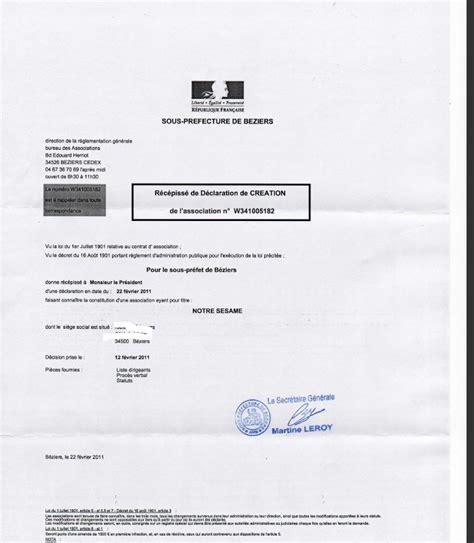 d馗laration changement bureau association declaration bureau association prefecture 28 images