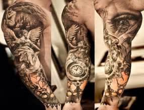 3d mountain eye tattoo for men half sleeve photography