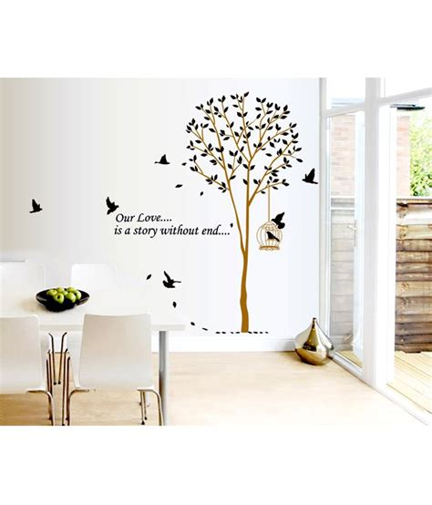 Wall Stiker 60x90 Ay803b Black Tree With Frame decals arts brown and black pvc vinyl tree wall sticker buy decals arts brown and black pvc