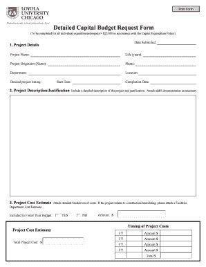 Printable Budget Worksheet For College Students Forms And Templates Fillable Printable Capital Expenditure Justification Template