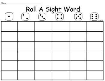 templates for sight words roll a word template pictures to pin on pinterest pinsdaddy