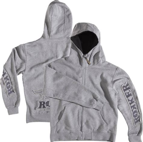 Jaket Jipper Hoodie Two Pocket Black Grey rokker unisex hoodie zip rokker grey grey 24helmets