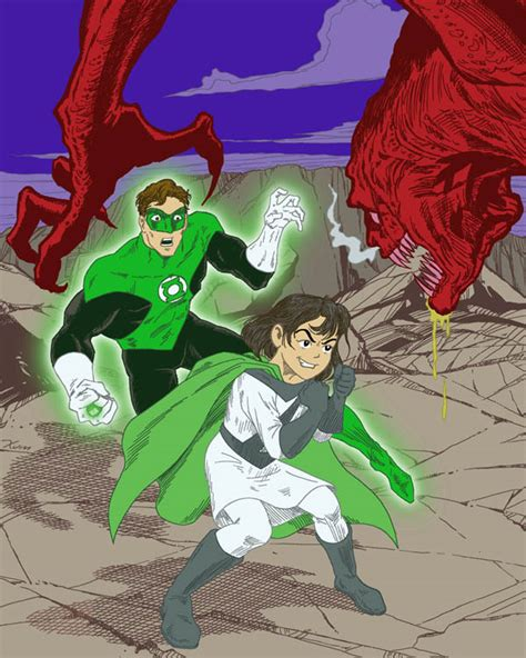 zita the spacegirl green lantern and zita the spacegirl by xumyukinori on