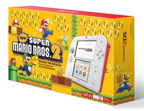 mario bros console nintendo 2ds new mario bros 2 bundle gaming
