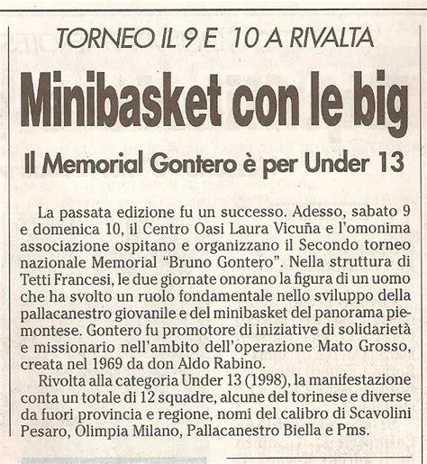 banca sella orbassano memorial b gontero ii torneo nazionale memorial bruno