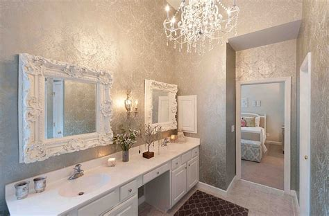 wallpaper in bathrooms feminine bathrooms ideas decor design inspirations